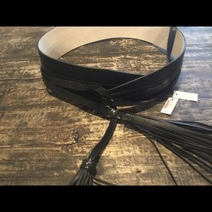 Black WHBM Wrap Leather Belt